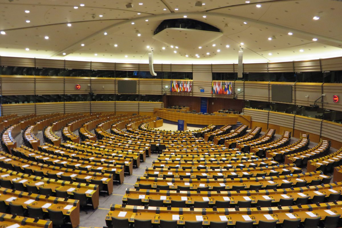 EU Parliament floor