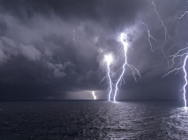 Lightning Strike at Sea